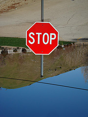 Stop bounce sign courtesy of anarchosyn on Flickr