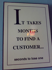 Customer service vs. marketing courtesy of jm3 on Flickr
