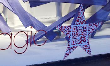 Macys QR code in star