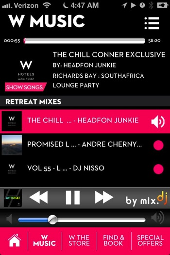 W music app
