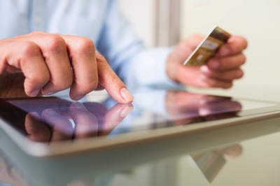 Mobile ecommerce hand