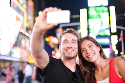 Millennials snapping a selfie: amazing Millennial, mobile, and digital marketing columns