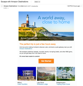 Amazon's travel offering