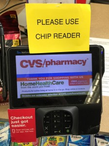 Confusing credit card scanner at checkout