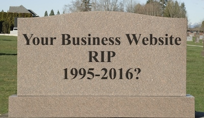Is it time for your website to die? Grave marker for company website