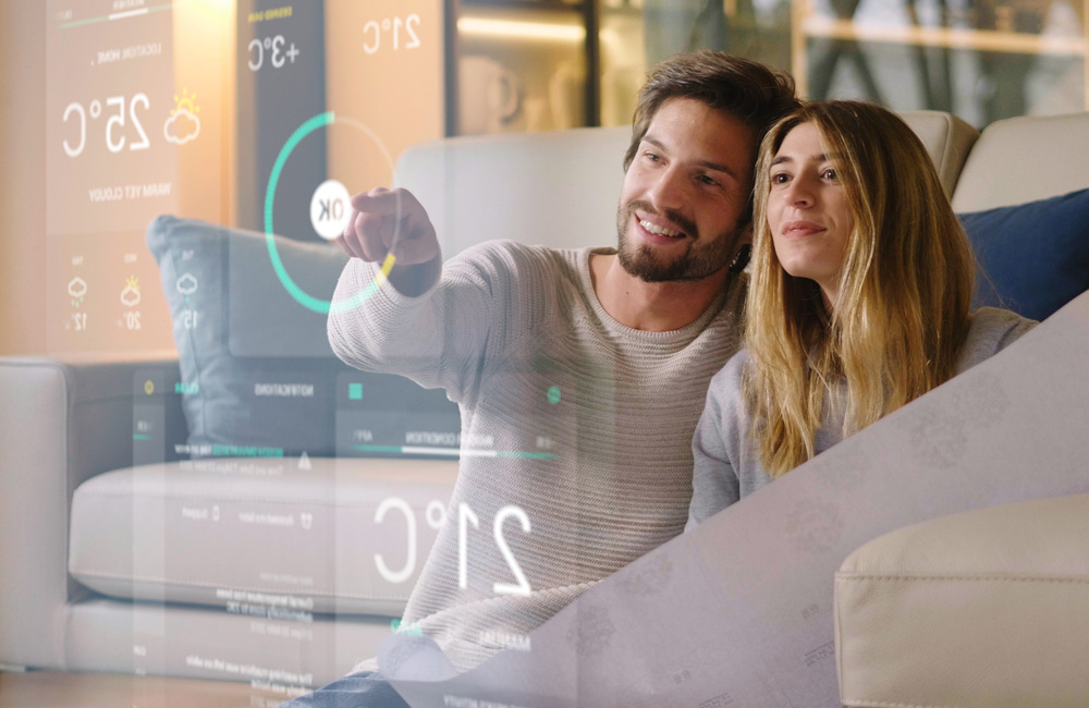 Two Years Of Digital Transformation In Two Months (Thinks Out Loud Episode 287): Couple Interacting With Virtual Screen