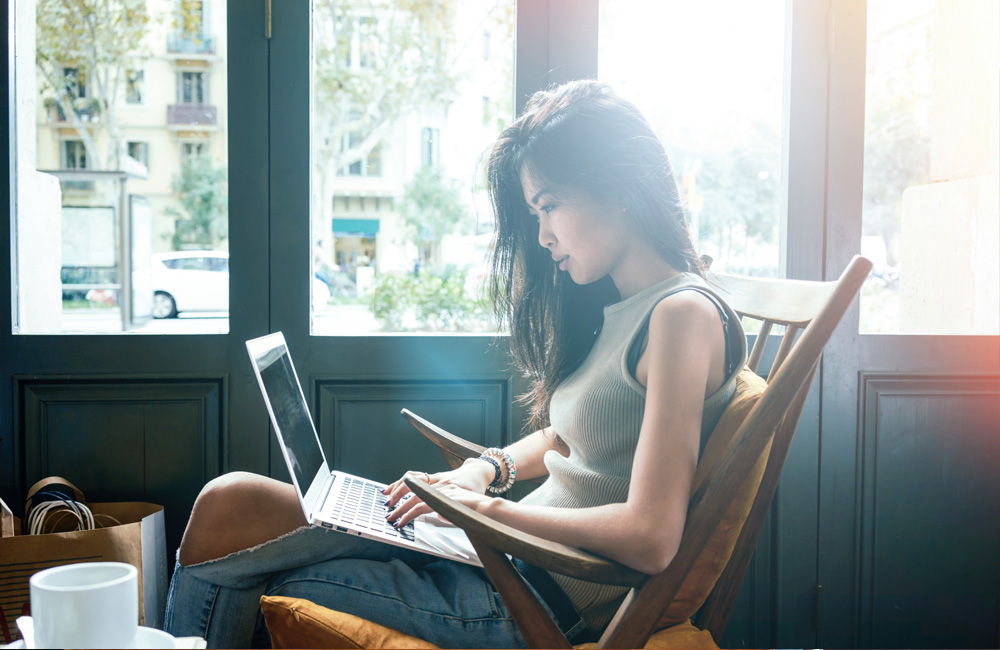 Digital Transformation Skills You Need To Compete: Woman Learning On Her Computer